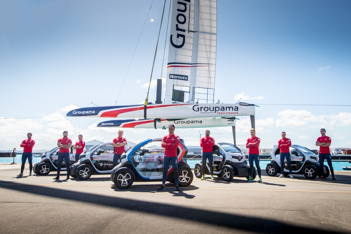 Groupama Team France and the Renault Twizy